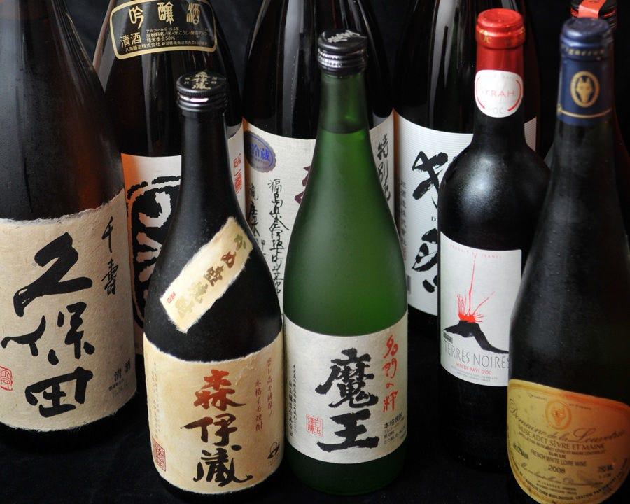 厳選の焼酎・日本酒・ワイン各種!!
