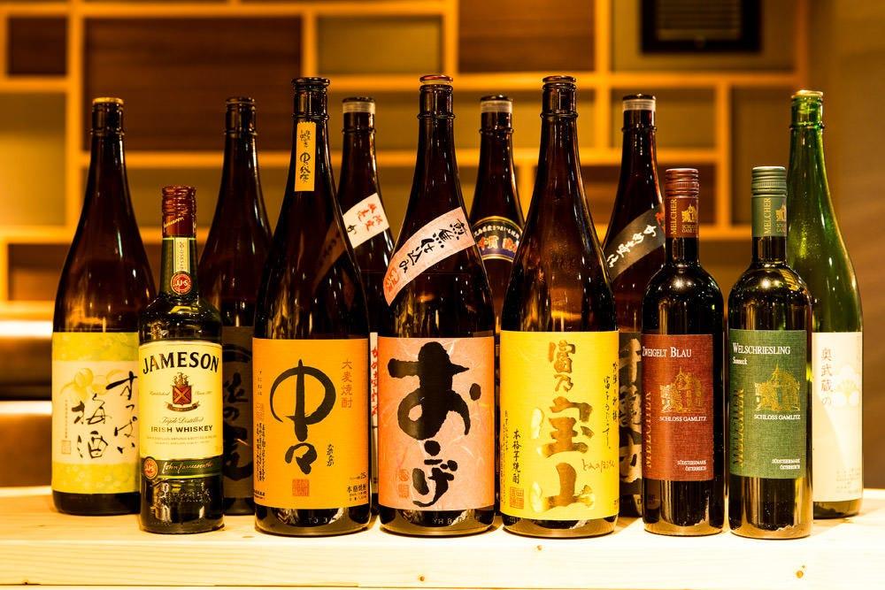 生ビールを含め、コースの飲み放題も全33種類と充実しています♪