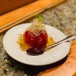 まるごとトマトのお浸し 〜和風ジュレで〜