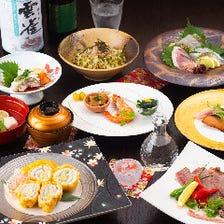 料理長渾身の旬鮮魚&肉料理を堪能