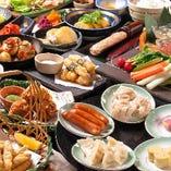 【ご注文のお肉・約20種類のお野菜・うどん・餅・豆富】が食べ放題!