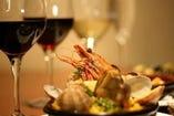 【月~木曜限定・飲み放題プラン】★歓送迎会におすすめ!魚介のパエリアなどスペイン料理をたっぷり満喫!