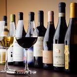 世界各国のワインを60種以上取り揃えております