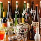 四国の地酒や柑橘ドリンクをお愉しみください♪