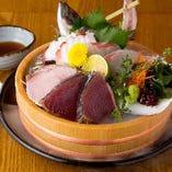 一番人気!【88屋盛り】藁焼き2種&お刺身3種のお得な盛合せ!
