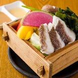 真鯛と鳴門ワカメの野菜セイロ蒸し