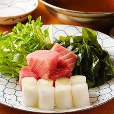 ねぎま鍋・燻製・鯖焼・小皿料理3品コース