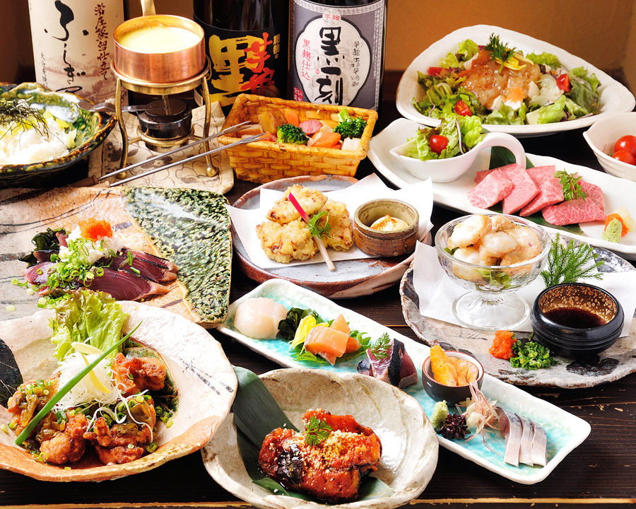 厳選食材満載の納得のコース3000円~