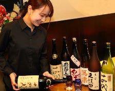 料理に合う旬な日本酒の取り揃え