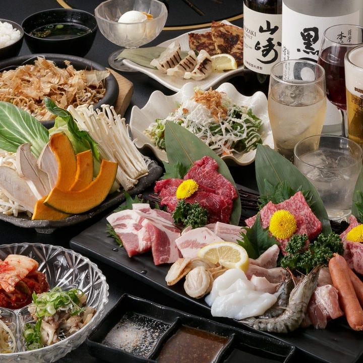 絶品お肉&新鮮魚介を贅沢に堪能
