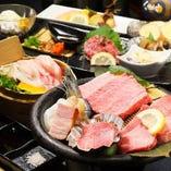『牛タン&ステーキ コース』<全12品>/4,500円