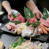 善の鉄板焼きは、お客様自身で焼いていただくスタイル!お好きな食材を好みの焼き加減で、マイペースにお楽しみいただけます。