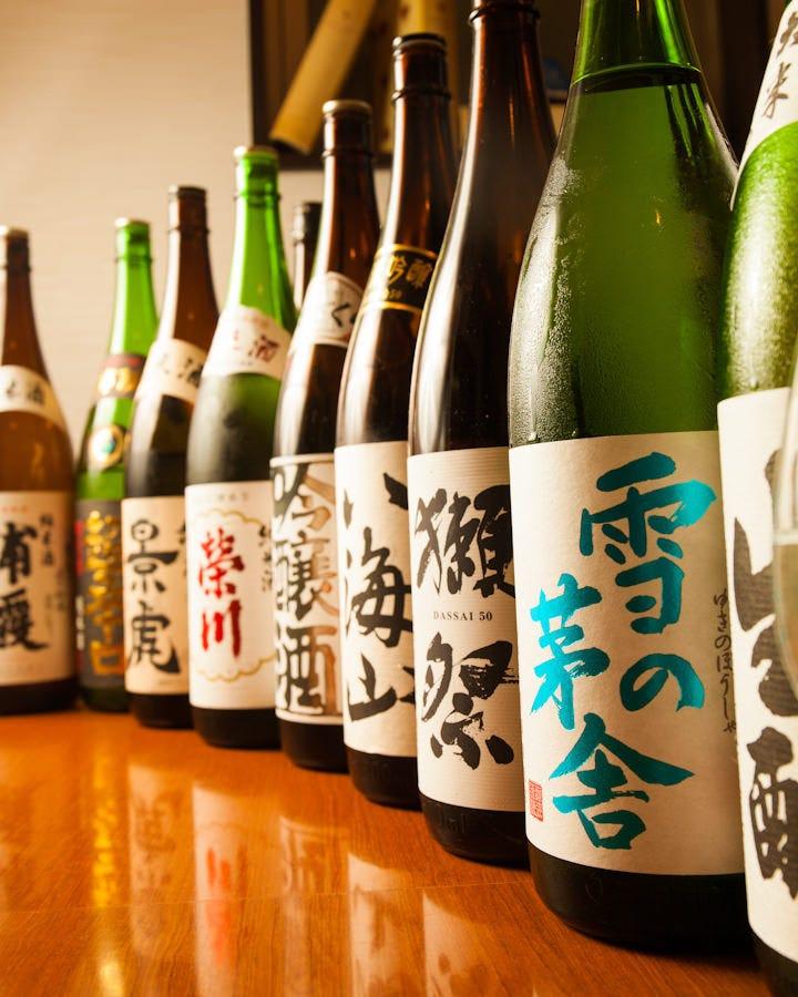 豊富な日本酒飲み放題
