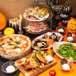 季節料理や受賞ピッツァをコースで!