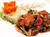 蟹の黒胡椒炒め
