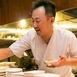 京都出身の保原店長は、数々の京料理の名店で腕を磨き、『うわの空』を2017年10月にオープンしました。