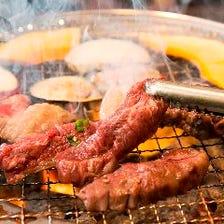 【1H食放×飲放】自慢の七輪炭火焼肉で★カルビちゃん食べ放題&飲み放題〈全25品〉