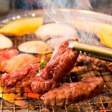 自慢の七輪炭火焼肉で美味しいお肉を