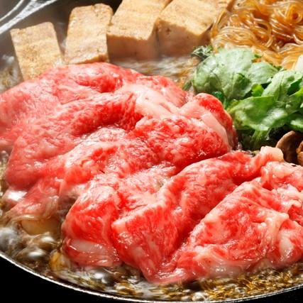 【Cプラン飲み放題150分】紀州和華牛とみかん鶏のすき焼と特選刺身3種コース