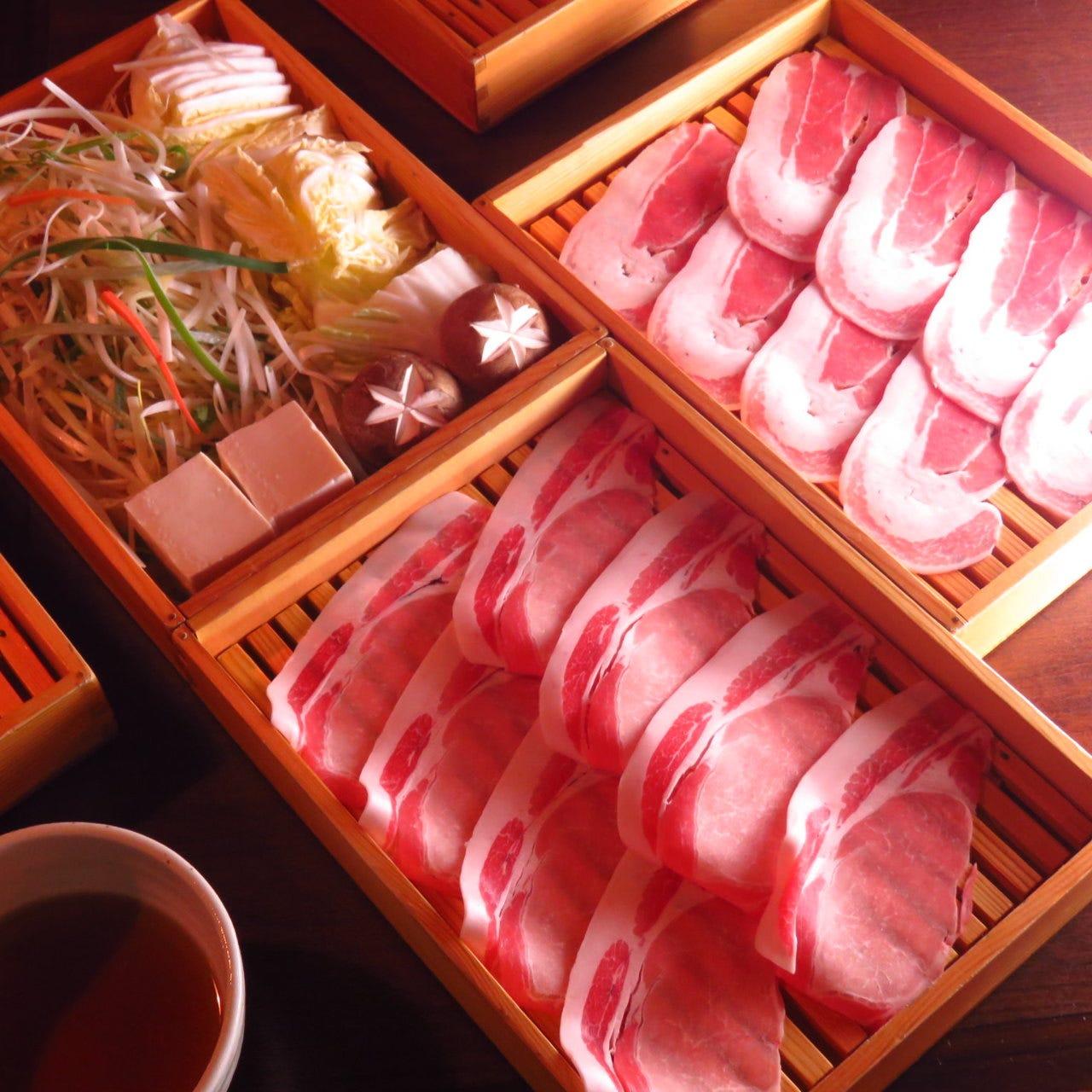 【Aプラン飲み放題150分】岩清水豚しゃぶと紀州みかん鶏唐揚げコース