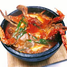 石鍋渡り蟹の海鮮チゲ