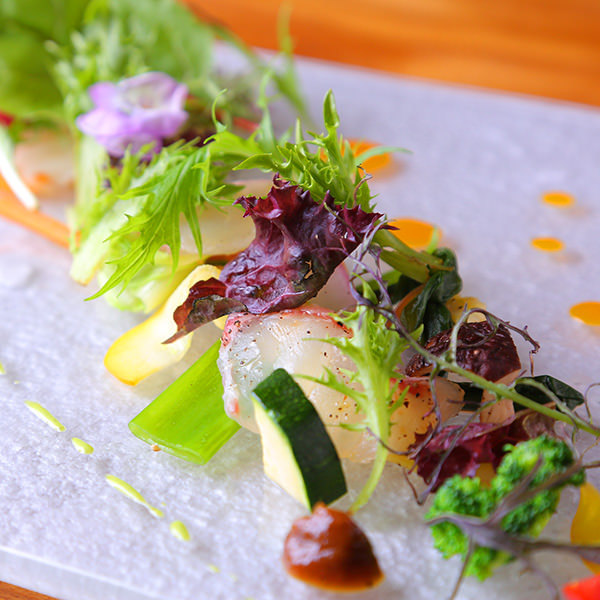 京野菜を中心に、野菜が主役の フレンチをお楽しみ頂けます