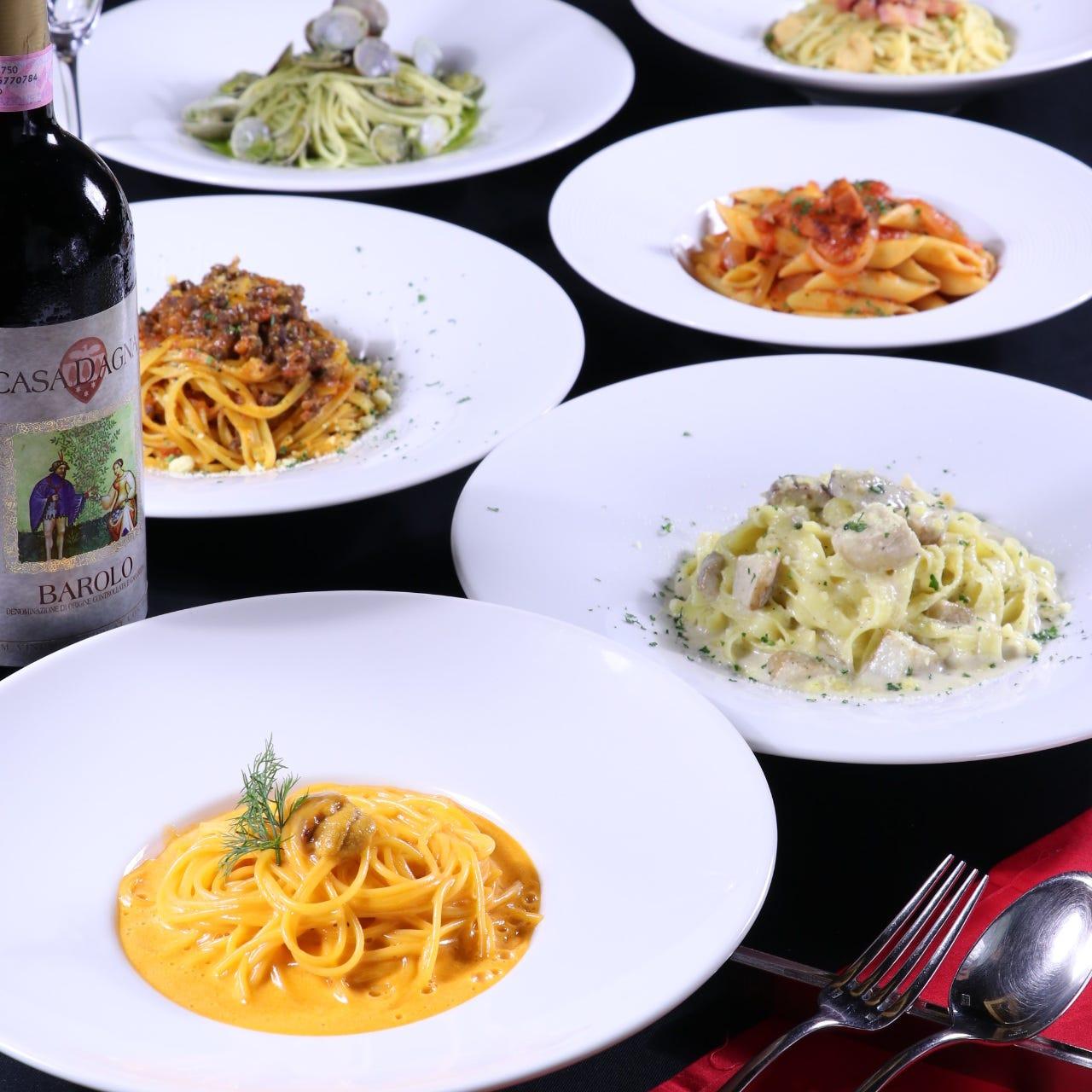 多彩な本格イタリアンを食べ飲み放題