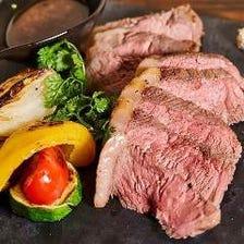 和牛ランプ肉のビフテキ