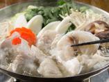 大鍋でどうぞ!利尻昆布のお出汁で食べる「とらふぐのちり鍋」