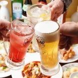 生ビールに中国酒まで対象の2時間飲み放題が単品1,430円!
