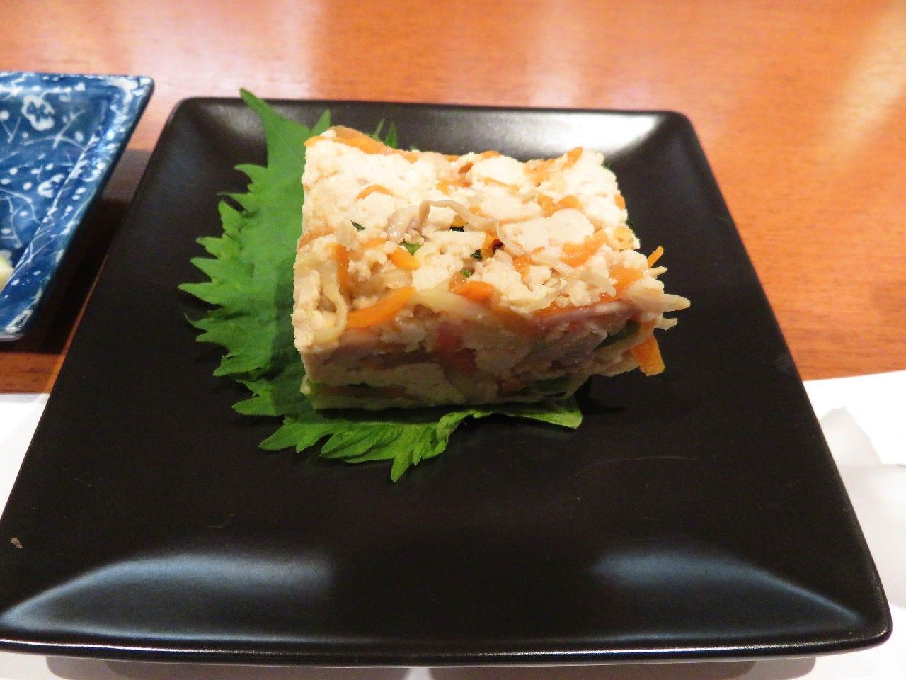 信州産健康増進食材凍み豆腐の料理