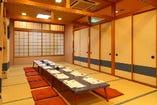 座敷は8人用~26人用まで対応でき全室個室でお使いいただけます。