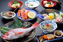 日本海朝どれ魚と旬の信州野菜、伝統郷土料理の会席料理(健康を作り、守るお料理)