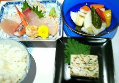 長野県健康増進課 3つの星レストラン登録メニュー ヘルシー刺身定食