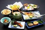 松茸料理 松茸、日本海朝どれ魚の会席料理