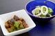 夏の伝統野菜の小布施丸ナス、牡丹胡椒、八町キュウリ、塩丸いか