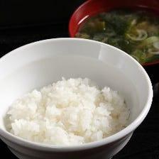 お米、味噌汁がとにかく旨い!