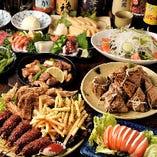 【120分飲み放題付】豪華!鶏料理&名古屋名物コース〈全9品〉4,000円