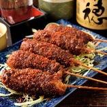 串カツ(みそ・ソース・タレ)