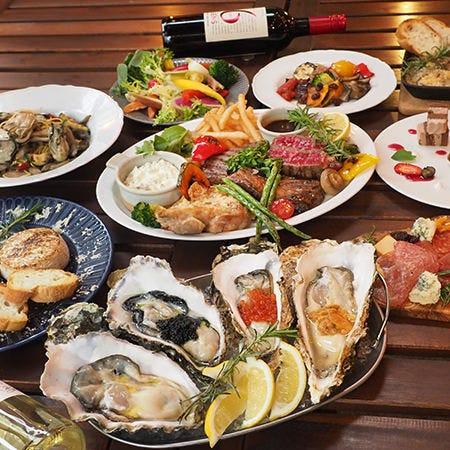牡蠣や肉料理、イタリアンが織りなすフルコースをご用意。