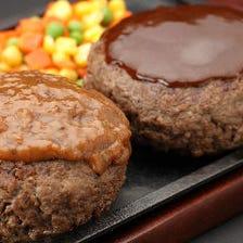 500g ビック ハンバーグ(ライス&スープ付)