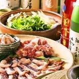 コースは旬の魚介や野菜など季節の味わいをお楽しみいただけます