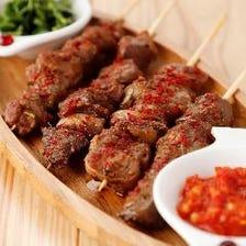 北海道直送ラム肉を使用した絶品料理