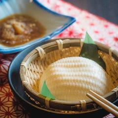 北海道産大豆使用 だし凍りで食べる ざる豆冨