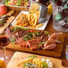 【2時間飲み放題付】贅沢ステーキコース/チャックアイとサーロインの2種のステーキ/宴会/歓迎会・送別会