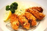 大粒牡蠣フライ定食(ごはん・みそ汁・香の物付)