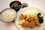 鶏から揚げ定食