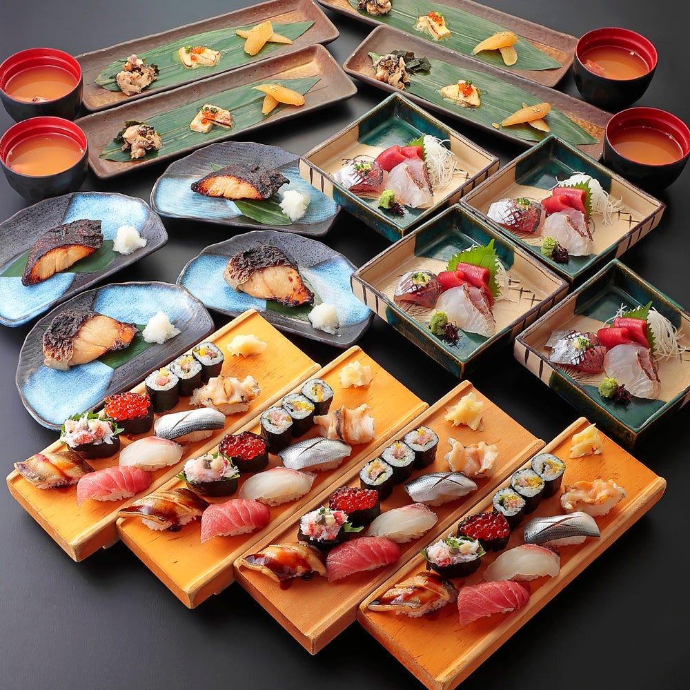 """【宴会】¥3500 """"板前特選 海の幸と高級にぎり寿司コース""""全5品"""