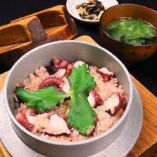 地蛸のタコ飯 ~味噌汁付~
