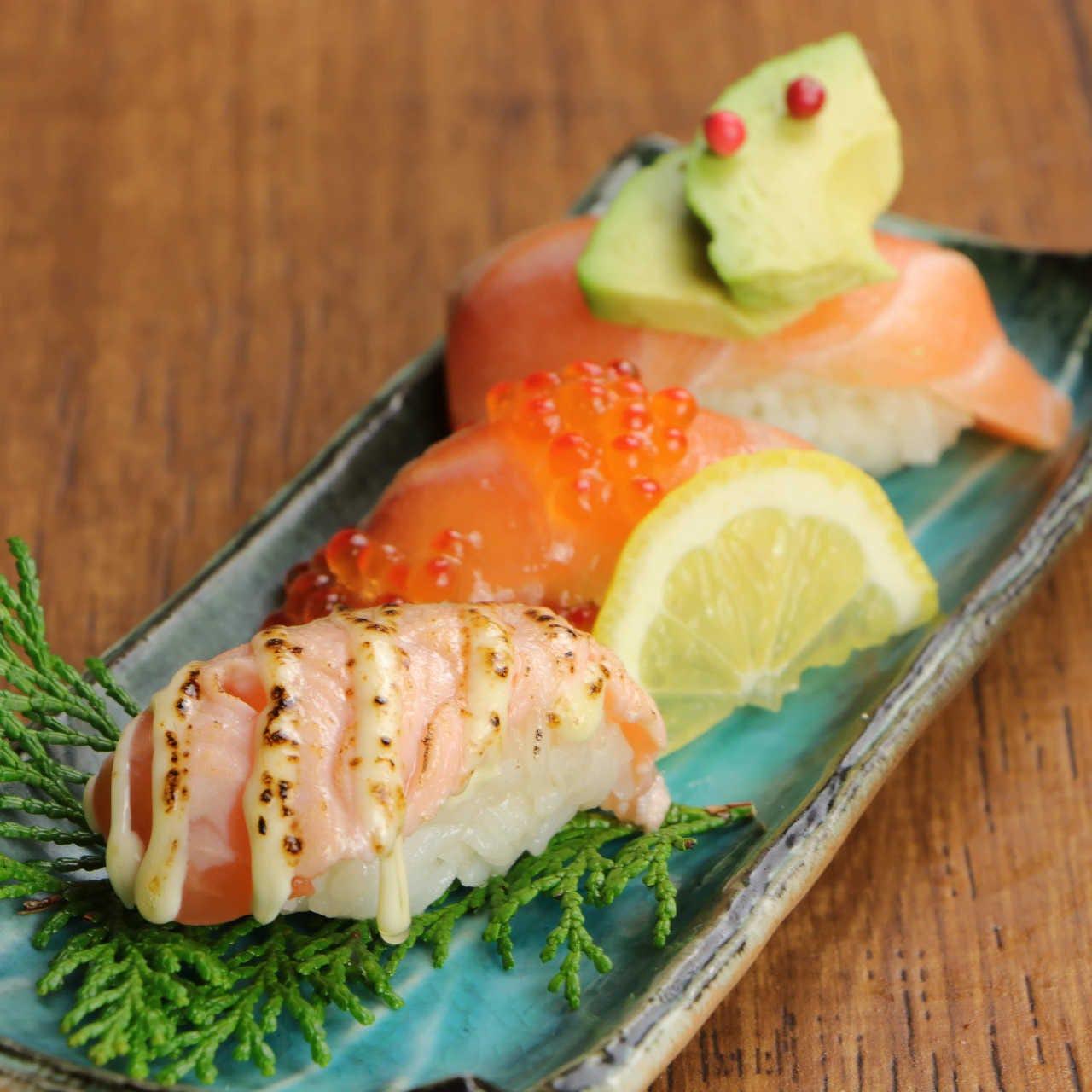 こだわりの創作握り寿司